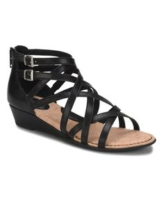 53d280d4aac2 Mimi Wedge Sandals Women s Shoes - b. s Mimi gladiator sandals top off a  sleek wedge heel with slender crisscrossing straps in an on-trend accent  that ...