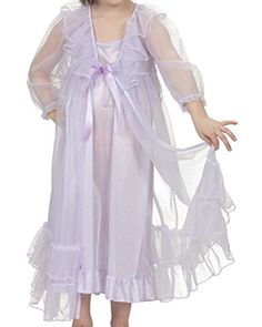 f203edf8f9 online shopping for Laura Dare Girls Princess Peignoir Set Includes  Nightgown Sheer Ruffle Robe USA from top store. See new offer for Laura  Dare Girls ...