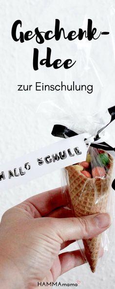 Geschenk-Ideen zur Einschulung zum Basteln und schön verpacken für Mädchen und Junge #geschenk #einschulung #schultüte #selbermachen