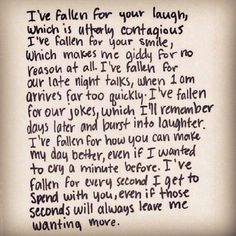 Top 30 love quotes with pictures. Inspirational quotes about love which might inspire you on relationship. Cute love quotes for him/her Cute Quotes, Great Quotes, Quotes To Live By, Inspirational Quotes, Fallen For You Quotes, Can't Wait To See You Quotes, Love Laugh Quotes, Enjoy Quotes, Love Quotes Tumblr