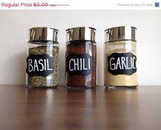 SUPER Sale NEW-Grace ChalkBoard Labels Spice Jar by BradensGrace