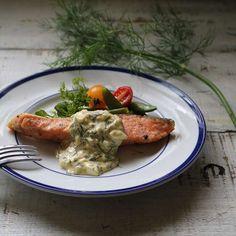 鮭のムニエル&ディルのタルタルソース