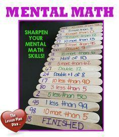 A versatile game to practice mental math skills  - Lesson Plan Diva