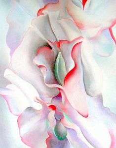"pink sweet peas, 1927 - Georgia O'Keeffe (re-print) """