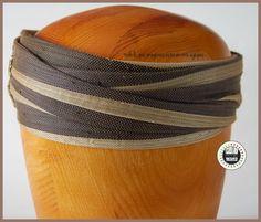 Seda y guipur Turbante en Sinamay de seda con adorno de guipur Drapeado pilicose.blogspot.com.es