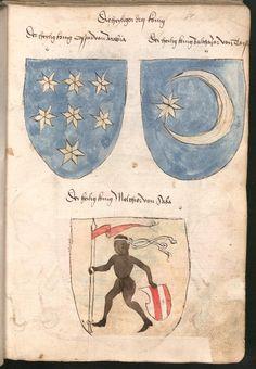 Wernigeroder (Schaffhausensches) Wappenbuch Süddeutschland, 4. Viertel 15. Jh. Cod.icon. 308 n  Folio 7r
