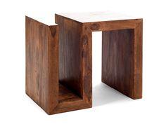 medový odkládací stolek z masivu, dřevěný masivní odkládací stolek, medový masivní nábytek z palisandru, dřevěný nábytek do obývacího pokoje