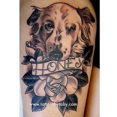 .@tattoosbytoby dog tattoo