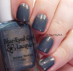 Blue Eyed Girl Lacquer Squall at St George close up | Be Happy And Buy Polish