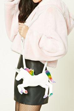 Faux Leather Unicorn Mini Bag