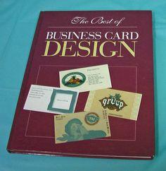 1994 Rockport Best Of Business Card Design Artist Graphic Designer VTG HB Book