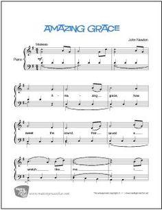 Free Printable Sheet Music, Download Sheet Music, Free Sheet Music, Amazing Grace Sheet Music, Easy Piano Sheet Music, Piano Music, Music Sheets, Piano Songs, Drum Lessons