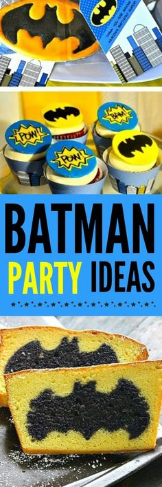 The Most Fun and Creative Batman Party Ideas For Every Batman Fan - Decor, Batman Games & Activities and Bat-terrific food. All the ideas you'll need to plan the best Batman Birthday Party. Lego Batman Party, Batman Birthday, Superhero Birthday Party, Boy Birthday, Birthday Parties, Kid Parties, Birthday Celebrations, Birthday Board, Birthday Cakes