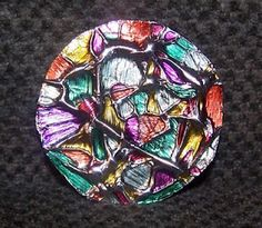 """Tin Foil """"Stained Glass"""" Ornaments"""