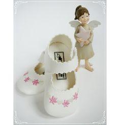 Te urocze balerinki z eko-skóry  będą doskonale pasować do każdej #sukienki do #chrztu!