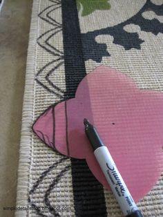 Simple Details: diy suzani rug...