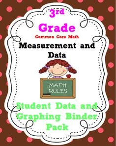 3rd Grade Common Core Math Measurement and Data *3.MD {Stu