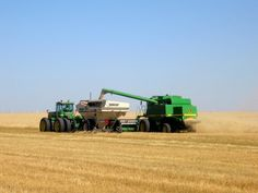 This photo from Saskatchewan, Prairies is titled 'Barley Harvest'. Agriculture, Farming, Country Life, Country Roads, Canada Country, Canadian Prairies, Land Of The Living, Saskatchewan Canada, O Canada