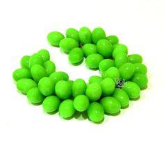 Cute berry charm bracelet green grapes - Handmade Jewelry - Polymer clay Jewelry - custom jewelry - real berry bracelet - green  jewelry