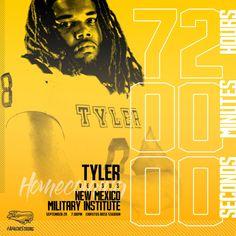 Tyler Junior College Football 72 hour countdown – cates.design Junior College, 72 Hours, College Football, Social Media, Design, Social Networks, Social Media Tips