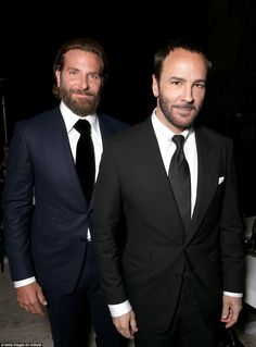 A good-looking pair: Tom Ford and Bradley certainly cut smart figures at the bash...