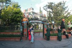 Haunted Mansion is basically a different ride when they deck it out for the holidays 12/18/2014