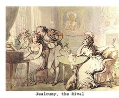 Jealousy, the Rival by Thomas Rowlandson