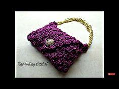 Marvelous Crochet A Shell Stitch Purse Bag Ideas. Wonderful Crochet A Shell Stitch Purse Bag Ideas. Crochet Bobble, Crochet Shell Stitch, Bobble Stitch, Bead Crochet, Crochet Cross, Free Crochet, Crochet Handbags, Crochet Purses, Crochet Bags