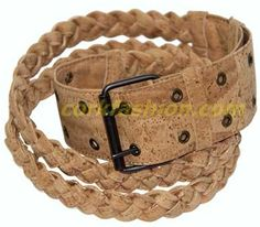 Cork Belt (model RC-GL0104008001) - Eco-friendly - made of real cork. From www.corkfashion.com