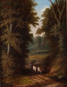 Joseph Mellor Drover with Cattle Oil on Canvas