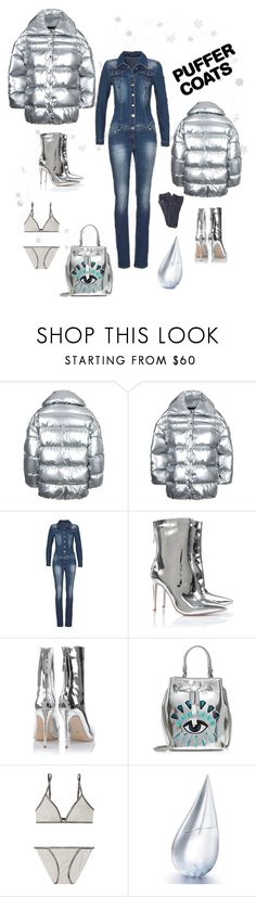 """Back and Front Puffer"" by rnett51 ❤ liked on Polyvore featuring Off-White, Kenzo, Calvin Klein Underwear, La Prairie and True Religion"