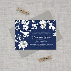 navy blue and crisp white save the date garden wedding Rose Wedding, Summer Wedding, Wedding Flowers, Wedding Day, Mermaid Wedding, Garden Wedding, Wedding Dress, Wedding Invitation Cards, Wedding Stationery