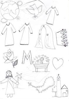 Simboli per una tombola su Maria, vedi il mio video su YouTube https://www.youtube.com/watch?v=KGlTeCvPjLY
