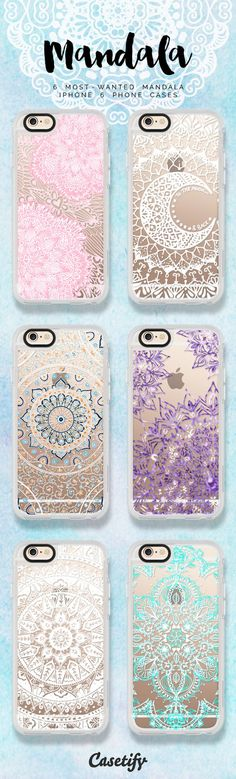 6 All time favourite mandala lace iPhone 6 protective phone cases... Add a little Indian flair!  | Click through to see more laceprint iphone case ideas >>> https://www.casetify.com/artworks/rvL5DerMB