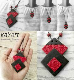 Polymer clay necklace from my new colection. I love it <3 visit for more info : www.facebook.com/KayaArt/