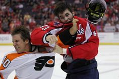 Tom Wilson's man-child punch. The kid is only 19....