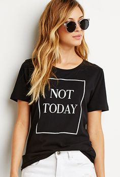 Not Today Graphic Tee | Forever 21 - 2000142035 Size medium