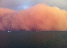 Wall of sand whipped up by Tropical Cyclone Narelle hits Onslow, Western Australia | Mail Online