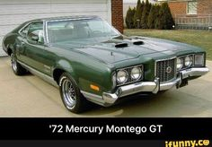 '72 Mercury Montego GT Green Motorcycle, Mercury Montego, Edsel Ford, Mercury Cars, Ford Lincoln Mercury, Cars Usa, Car Advertising, Ford Motor Company, Hot Cars