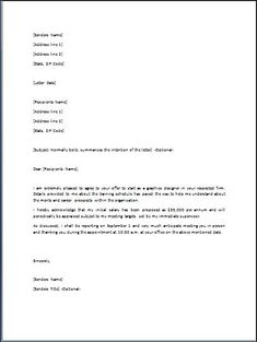 Employment Offer Letter - Job offer letter sample for offering ...