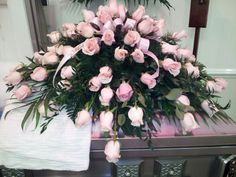 all pink rose spray - Rose Garden Funeral Home