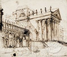 piranesi drawings | This drawing of an elaborate Neo-Classical building is by Piranesi ...