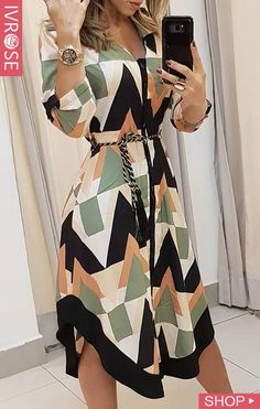 Vestido casual assimétrico colorblocked geo print (s/m/l/xl) Trend Fashion, Womens Fashion, Style Fashion, Fashion Quiz, City Fashion, Cheap Fashion, Fashion Bloggers, Fashion Fashion, Winter Fashion