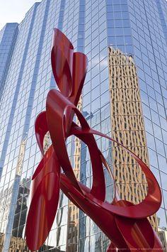 **Red sculpture, Leadership Square, Oklahoma City, Oklahoma