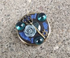 Mosaic Double Sided Compact Mirror by  PiecesofhomeMosaics on Etsy, $30.00