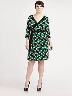Melissa Masse, Salon Z Printed Jersey Wrap Dress