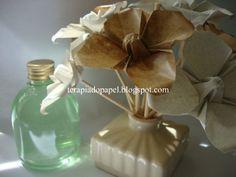 Aromatizadores de ambiente com flores de origami