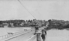 Vista de Miramar desde el Puente San Antonio,Puerta la Tierra,año 1914,San Juan,Puerto Rico.