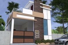 Independent house House Porch Design, House Front Wall Design, House Outer Design, Single Floor House Design, House With Porch, Small House Design, Modern House Design, House Elevation, Front Elevation