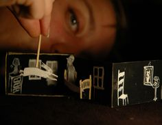 Image: Laura Heit, The Matchbox Shows Courtesy of the artist. Image: Laura Heit, The Matchbox Shows Courtesy of the artist. Ann Arbor Film Festival, Puppetry Theatre, Toy Theatre, Theatre Design, Paper Toy, Puppet Show, Gulliver's Travels, Hand Puppets, Yesterday And Today